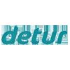 Logo Detur reisearrangør med over 200 000 gjester årlig fra Norden. Detur har spesialisert seg på charterreiser til de populære landene Tunisia, Tyrkia og Hellas.