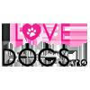 Logo I Love Dogs nettbutikk med enormt utvalg av hundeklær, hundesnacks, godbiter til hund