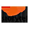 Logo Storytel lar deg lytte til  tusenvis av lydbøker og lese e-bøker på flere språk