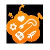 Logo Coolstuff nettbutikken som selger morsomme kjøkkenredskaper og kjøkkentilbehør på nett. Perfekte gaver til de som liker å lage mat og leke på kjøkkenet i fargerke omgivelser.