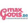 Logo Maxgodis nettbutikken som selger godter, søtsaker og snop på nett