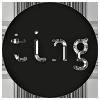 Logo Ting nettbutikk som selger fine, morsomme og fargerike ting & gaver til alle anledninger