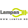 Logo Lampan nettbutikk som selger lamper, designlamper, belysning, vegglamper og sengelamper.