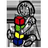 Logo Riktige Leker lekebutikk på nett som selger tradisjonsleketøy og retro leker til barn