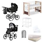 Startpakke baby merc duovogn seng madrass babynest multipute dynepute stellebord